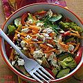Poêlée de légumes tofu et curcuma