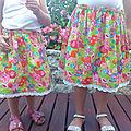 Les jupes de Mamé pour ses petites filles