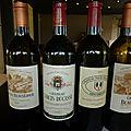 Francs-Côtes de Bordeaux La <b>Prade</b> et Puygueraud, Saint Emilion : Beauséjour hdl, Larcis Ducasse, Pavie Macquin : millésime 2008