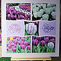 Pages de scrapbooking européen sur le thème des fleurs