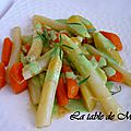 Ragoût d'asperges sauce gorgonzola