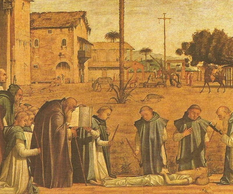 CARPACCIO - Enterrement de Saint Jérôme (détail) - VENISE - Scuola de San Giorgio dei Schiavoni