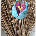 tulipe laine feutrée