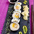 Maki sushis de moules panées et mangues