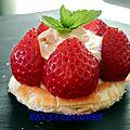 Tartelette fraises mascarpone café