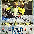 Affiche championnats de france et coupe du monde 1994 à bourg st maurice