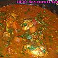 Curry doux de poulet aux légumes