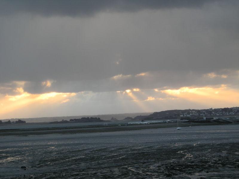 Soleil levant, marée basse