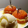 °<b>abricots</b> rôtis facris à la crème d'amande, au romarin°
