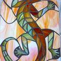 Mosaïque gecko, fin