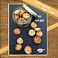 Petits biscuits sans sucre ajouté aux figues & aux dattes