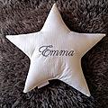 Coussin petit étoile Emma.