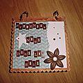 Mini album couverture bois boanita