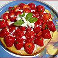 Gâteau citron/coco/fraises
