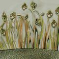 plaque en fimo avec fleurs de printemps01