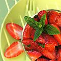 Salade de fraises, facon pierre hermé