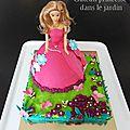 Gâteau princesse dans le jardin