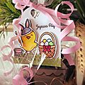 Easter tag avec lawn fawn et sunny studio stamps