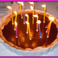 Tarte chocolat praliné absolument divine: happy birthday soeurananette!