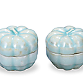A Pair Of Small Qingbai '<b>Melon</b>' Boxes And Covers, Southern Song Dynasty, 1127-1279