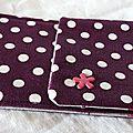 30. pochette I-phone en toile enduite violet à pois - liberty