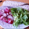 Wrap poulet et salade de radis