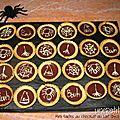 522 - Mini tartes au <b>chocolat</b> au <b>lait</b> (décorées pour Halloween)
