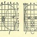 le carré-cadre / variété dans le caractère des figures par Albert <b>Dürer</b>