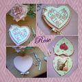 porte aiguilles coeur d rose