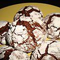 Crinkles ( biscuits craquelés ) au chocolat