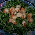 Petite salade aux saint jacques