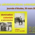 Les administrations coloniales - journée d'études, 30 mars 2007