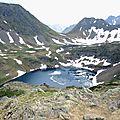 Gourette, O, Les trois Lacs, col, vue sur le lac d'Uzious