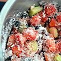 Fraise, cassis, rhubarbe