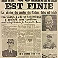 LA GUERRE EST FINIE, TITRAIT LE PETIT MAROCAIN DES 7 & 8 MAI 1945