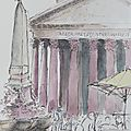 N°76 - 80 carnet de voyage / travel sketchbook : rome