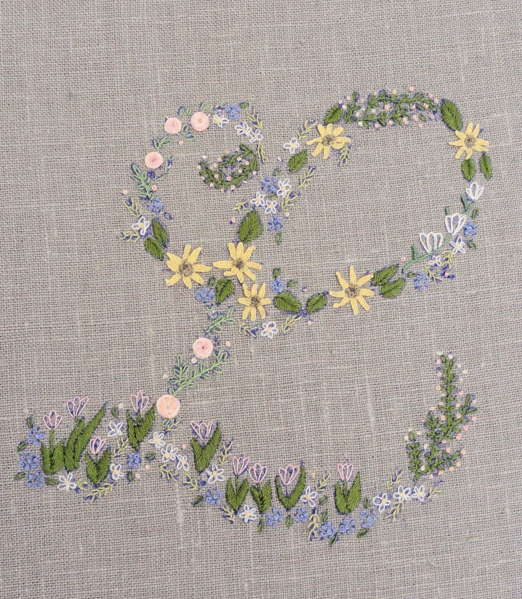 Broderie des mille fleurs