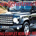 Land Rover <b>Defender</b>, Land Rover <b>Defender</b>, covering Land Rover <b>Defender</b>, Land Rover <b>Defender</b> noir mat
