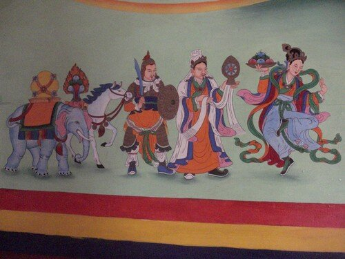 Peinture murale, Monastere Songzanlin, Zhongdian