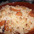 Crumble pomme-abricots