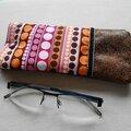 Clocréations-Etui lunettes multi pois