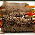 Roulés de bœuf aux légumes