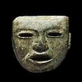 Masque cultuel, teotihuacan, mexique, période classique, 200-650 après jc