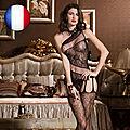 Sexy Lingerie Femme Sous-vêtement de Nuit Lactes Nuisette Combinaison Ouverte