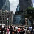 Croisement Orchard et Paterson Road, buildings et centres commer