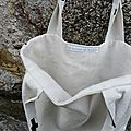 Tote bag, sac cabas tissu Cross, croix Black and White 35€ port inclus via Mondial Relay