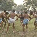 Kabadi, jeu populaire, a la sortie du fort