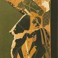 Céramique attique - Exekias - 540/530 av JC - Dipylon - Mulets et valets