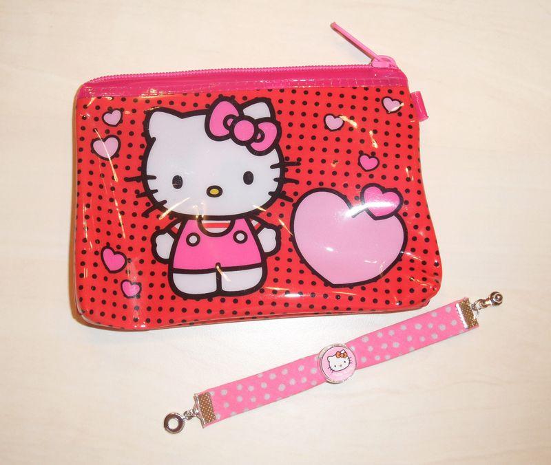 bracelet enfant Hello Kitty + pochette