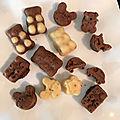 Petits oursons et mini gâteaux chocolats